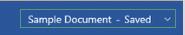 Sample Document - Saved